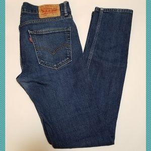 Levi's 510 Dark Wash Mid Rise Skinny Jeans